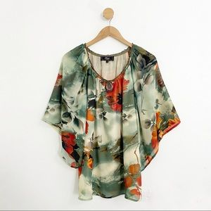 Status By Chenault Green Floral Blouse